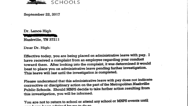Principal Letter To Parents About Teacher Leaving from fox17.com
