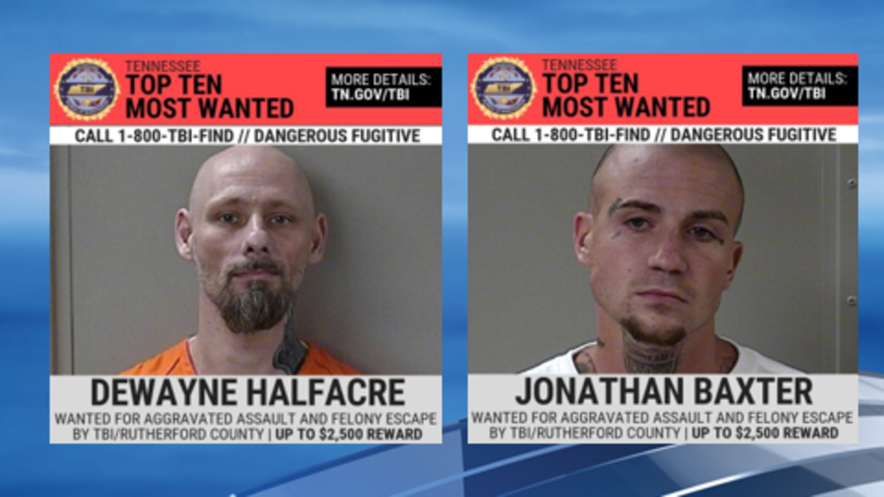 Search underway for 2 Rutherford County escaped inmates on