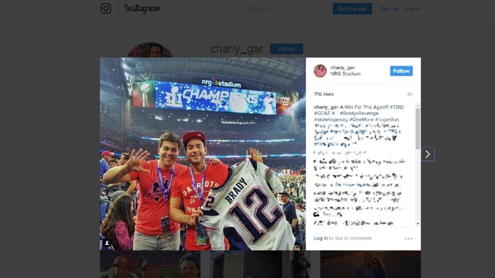 Patriots fan's #stolehisjersey post goes viral; Tom Brady's jersey ...
