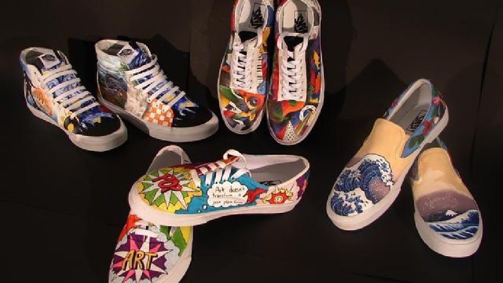 7cf98c6d067047 These creations by Station Camp High School art students has earned them a  seat at the table in the national Vans Shoes competition.