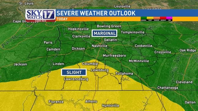 CODE RED: Severe weather threat over across middle Tennessee