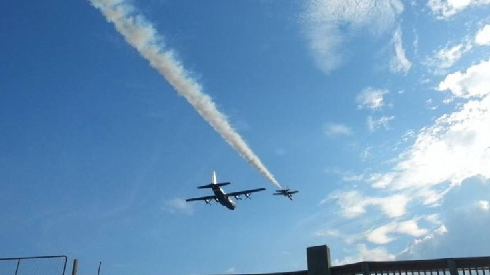 Blue Angels Honoring Capt Jeff Kuss With Pensacola Flyover