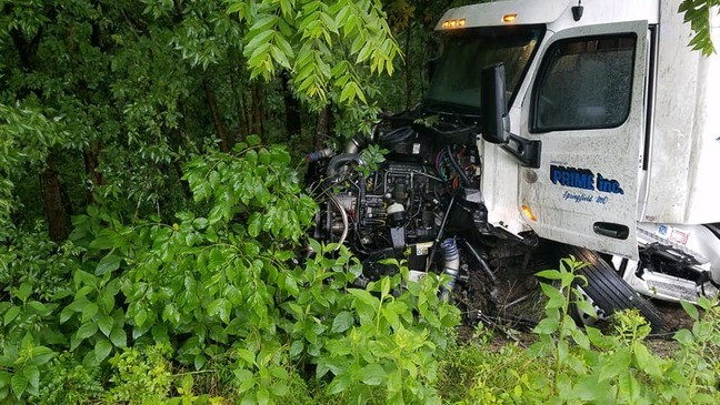 Driver killed in head on crash between 18-wheeler, car on I