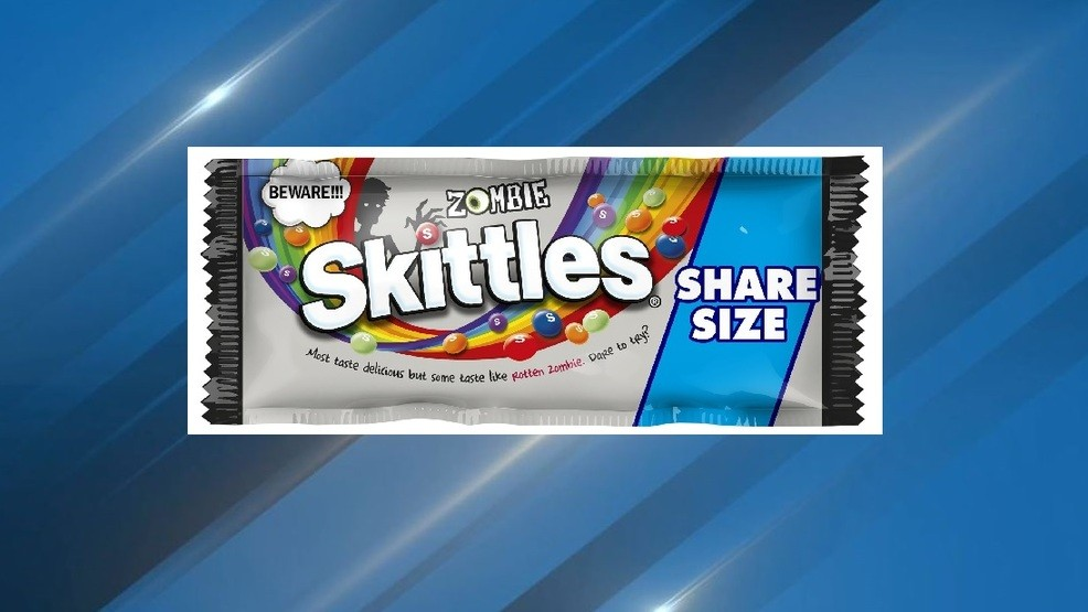 Zombie Skittles are coming soon, and each bag includes a 'rotten